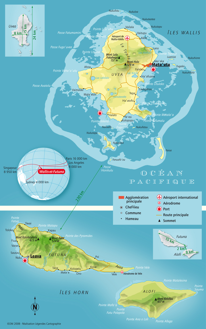 Carte de Wallis et Futuna (source IEOM)